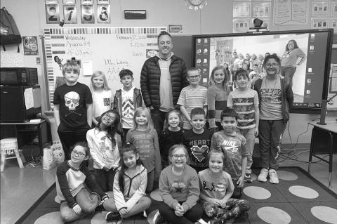 Mystery Reader at Hennessey Elementary