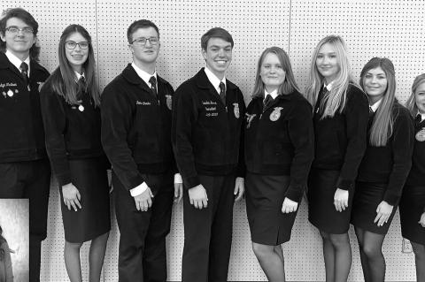 2020-21 Kingfisher FFA Chapter Officers