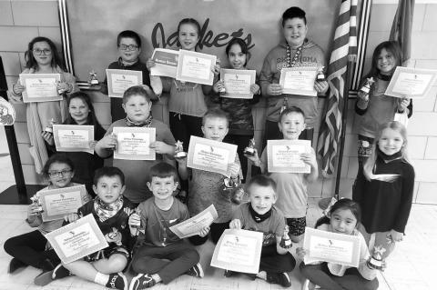 Gilmour Elementary GE Award winners