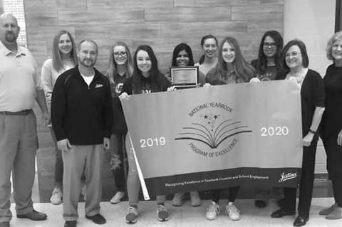 Okarche yearbook staff garners lofty recognition