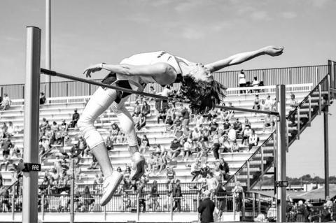 Kingfi sher's Braxton Mecklenburg qualifi es for JO Games in high jump